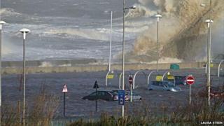 Flooding in New Brighton