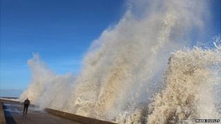 Tidal surge in Lowestoft
