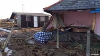 Storm damage in Walcott