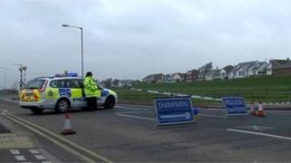 Scene of Thorpe Bay car fire