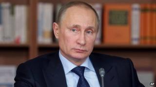 Russian President Vladimir Putin, file pic