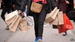 shopper with bags