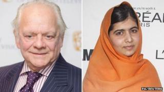 David Jason and Malala Yousafzai composite