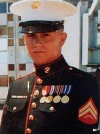 An undated photo of Marine Sgt Brian LaLoup