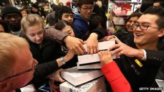Boxing Day sales in Selfridges