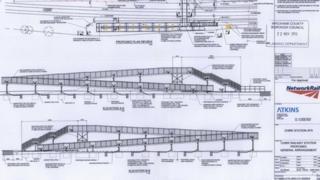 Diagram of the proposed access bridge