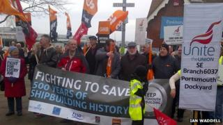 Portsmouth ship-building march and rally
