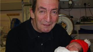 Photo of Christopher Colegate with his granddaughter taken six or seven years ago