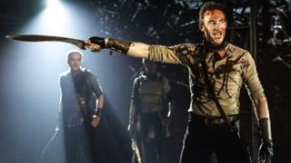Tom Hiddleston in Coriolanus. Photo by Johan Persson