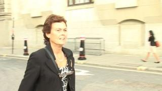 Vanessa Gent outside the hearing