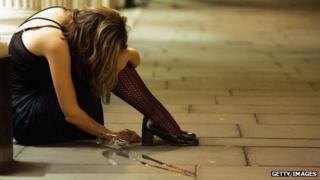 drunk woman on the floor
