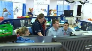 The A&E department in Leicester