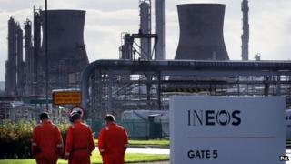 Ineos plant at Grangemouth