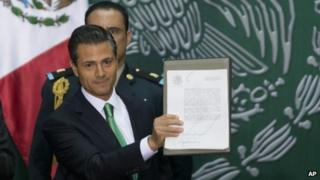 Pena Nieto signs energy law
