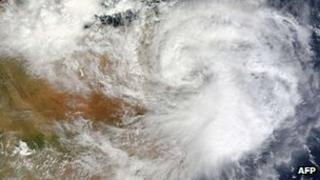An image of the cyclone that hit Somalia's Puntland region (11 November 2013)