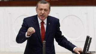 Turkish Prime Minister Recep Tayyip Erdogan, 10 Dec 13