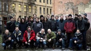 Arctic 30 Greenpeace group in St Petersburg (3 Dec 2013)