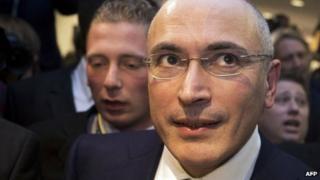 Mikhail Khodorkovsky at the Wall Museum in Berlin. 22 December 2013