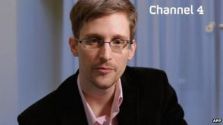 Edward Snowden on Channel 4, 25 Dec