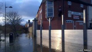Frankwell flood defences