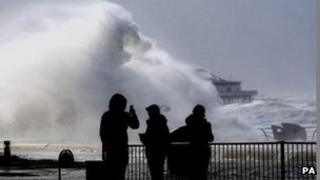 Severe winds in Blackpool