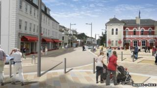 Architect's impression of what St Aubin should look like after the project
