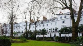 Egerton Crescent, in Kensington, London