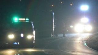Crash scene near Southwell
