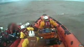 The two men are rescued