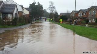 Feniton flooding, 1 January 2014
