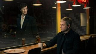 Undated handout photo issued by the BBC of Benedict Cumberbatch playing Sherlock Holmes (left) and Martin Freeman playing Dr John Watson from the new series of Sherlock