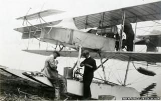 S.80 hydro-aeroplane on the Nile in Cairo, January 1914