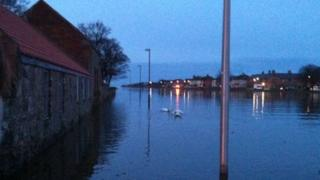 Flooding in Musselburgh
