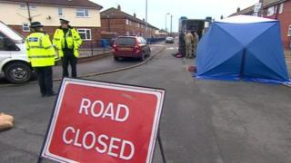 Police and bomb disposal team at the scene