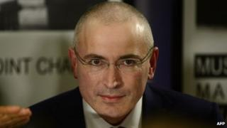 Former Russian oil tycoon and Kremlin critic Mikhail Khodorkovsky