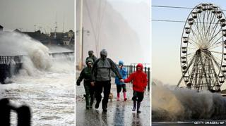 Stormy weather battering the UK