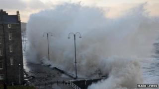 High waves in Aberystwyth