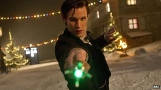 Matt Smith in the Doctor Who Christmas special