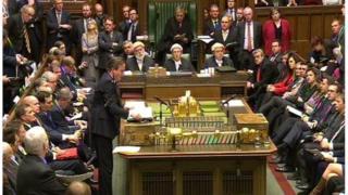 David Cameron addressing MPs