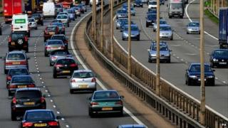 Traffic on the M1 motorway