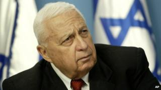 Former Israeli Prime Minister Ariel Sharon pictured in 2004