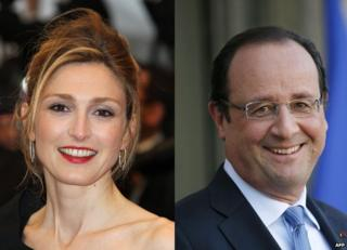 Julie Gayet and Francois Hollande