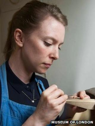 Frances Wadsworth-Jones at work