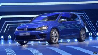 Volkswagen Golf on display