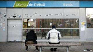 Employment office outside Barcelona