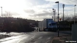 Lorry on the line