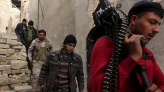 Free Syrian Army fighters in Aleppo. Dec 2013