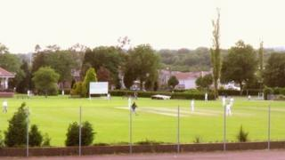 Ammanford cricket pitch