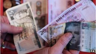 Man holding banknotes