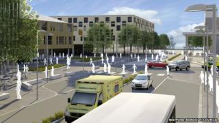 Artist impression of Watford Health Campus